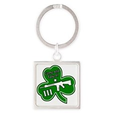 Come and Take It (Shamrock) Square Keychain