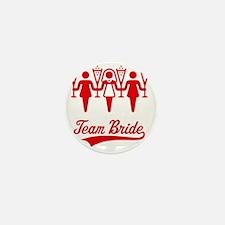 Team Bride (Bachelorette Party), red Mini Button