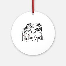 Hog Dog Republic Logo Round Ornament