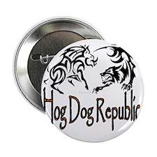 """Hog Dog Republic Logo 2.25"""" Button"""