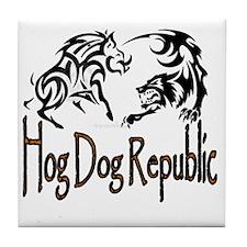 Hog Dog Republic Logo Tile Coaster
