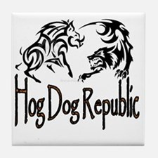Hog Dog Republic Logo Tile Coaster