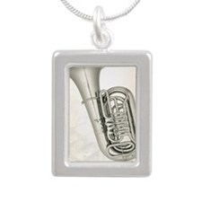 tuba-9 Silver Portrait Necklace