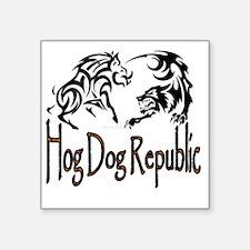 """Hog Dog Republic Logo Square Sticker 3"""" x 3"""""""
