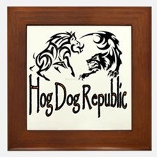 Hog Dog Republic Logo Framed Tile