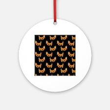 Cute Dachshund Cartoon Puppy Round Ornament