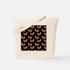 Cute Dachshund Cartoon Puppy Tote Bag