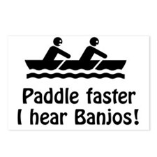 Paddle Faster I hear Banj Postcards (Package of 8)