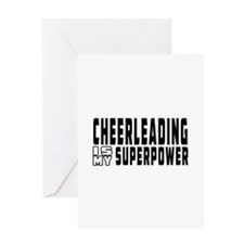 Cheerleading Is My Superpower Greeting Card