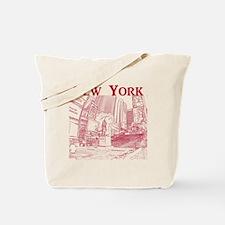 NewYork_10x10_DuffySquare_Red Tote Bag