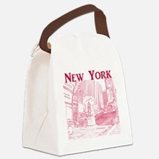 NewYork_10x10_DuffySquare_Red Canvas Lunch Bag