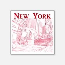 "NewYork_10x10_DuffySquare_R Square Sticker 3"" x 3"""