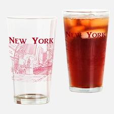 NewYork_10x10_DuffySquare_Red Drinking Glass