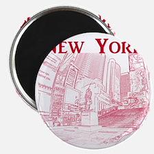 NewYork_10x10_DuffySquare_Red Magnet