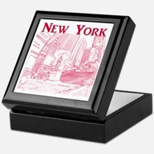 NewYork_10x10_DuffySquare_Red Keepsake Box