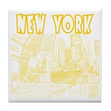 NewYork_12x12_DuffySquare_Yellow Tile Coaster