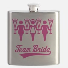 Team Bride (Bachelorette Party), magenta Flask