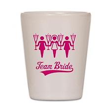 Team Bride (Bachelorette Party), magent Shot Glass