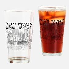 NewYork_12x12_DuffySquare_Black Drinking Glass