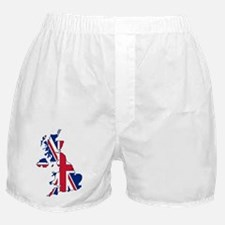 UK Outline and Flag Boxer Shorts