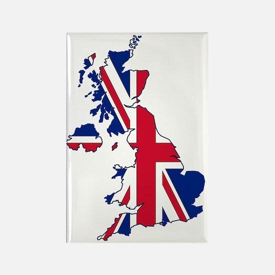 UK Outline and Flag Rectangle Magnet