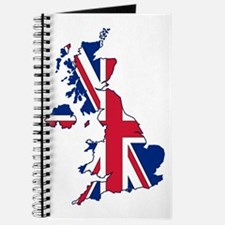 UK Outline and Flag Journal