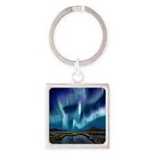 Northern Lights Square Keychain