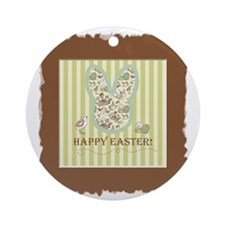 Vintage Easter Round Ornament
