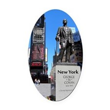 NewYork_5.5x8.5_Journal_DuffySquar Oval Car Magnet