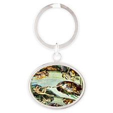 Sistine Chapel Ceiling Oval Keychain
