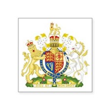 "Royal COA of UK Square Sticker 3"" x 3"""