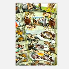 Sistine Chapel Ceiling 4X Postcards (Package of 8)