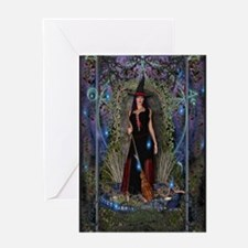 Blue Moon Witch Greeting Card