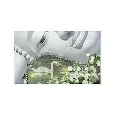 In the Garden - Quan Yin Flowers 3'x5' Area Rug