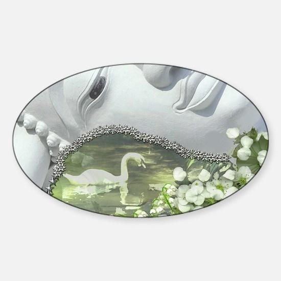 In the Garden - Quan Yin Flowers Sticker (Oval)