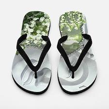 In the Garden - Quan Yin Flowers Flip Flops