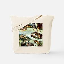 Sistine Chapel 23X18 Tote Bag