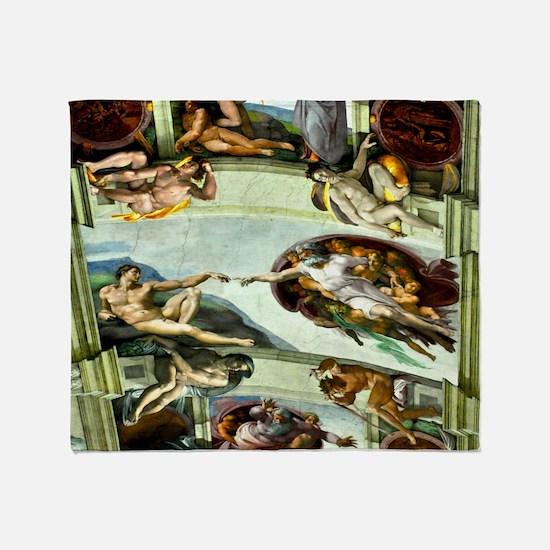 Sistine Chapel Ceiling 9X12 Throw Blanket