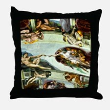 Sistine Chapel Ceiling 9X12 Throw Pillow