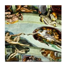 Sistine Chapel Ceiling 9X12 Tile Coaster