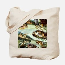 Sistine Chapel Ceiling 9X12 Tote Bag