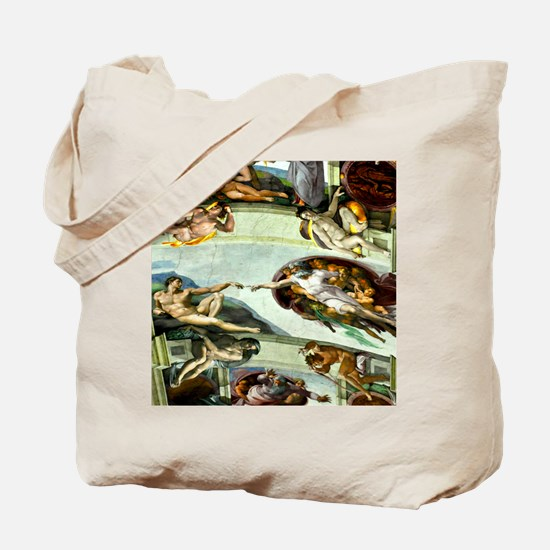 Sistine Chapel Ceiling 9X12 Tote Bag