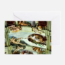 Sistine Chapel Ceiling 9X12 Greeting Card