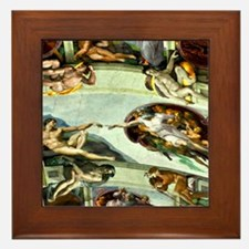 Sistine Chapel Ceiling 9X12 Framed Tile