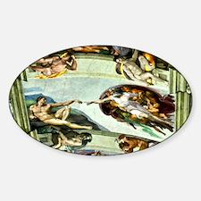 Sistine Chapel Ceiling 9X12 Sticker (Oval)