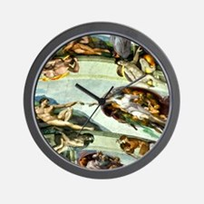 Sistine Chapel Ceiling 9X12 Wall Clock