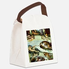 Sistine Chapel Ceiling 9X12 Canvas Lunch Bag
