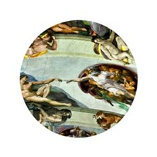 "Sistine Chapel Ceiling 9X12 3.5"" Button"