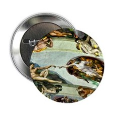 "Sistine Chapel Ceiling 9X12 2.25"" Button"