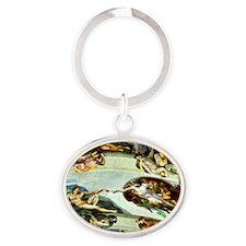 Sistine Chapel 11X15 Oval Keychain